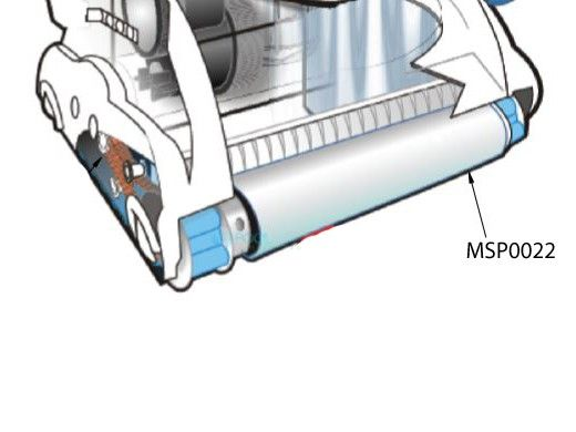 AutoPilot PVA Roller Brush Blue for AquaClean Robotic Pool Cleaner | MSP0022