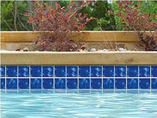 National Pool Tile Akron Field Series   Royal Blue   KAK305
