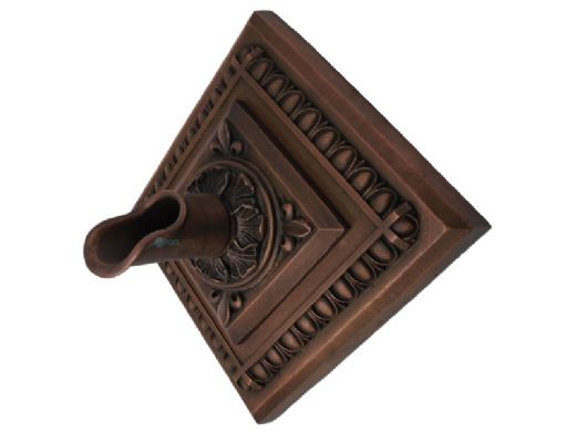 Black Oak Foundry Diamond Apollo Backplate with Oak Leaf Scupper   Oil Rubbed Bronze Finish   S53-ORB Diamond