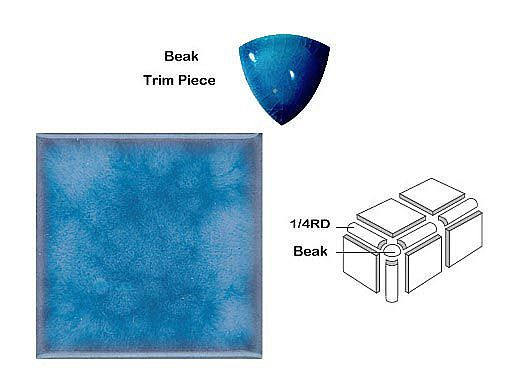 National Pool Tile Akron Field Beak Trim | Cloud Blue | KAK325 BEAK