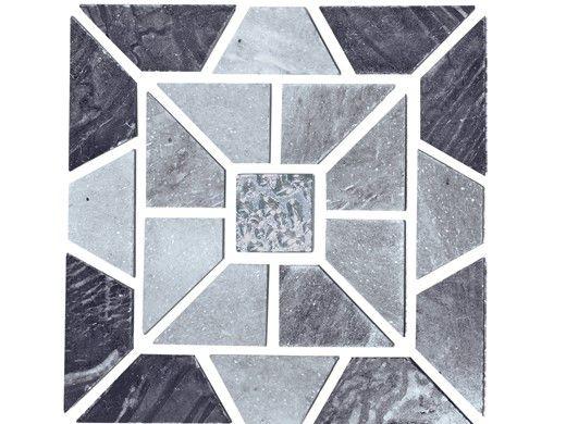 National Pool Tile Fusion Quartzite Mosaic Tile | Grey Morning Star | BVQMS9007