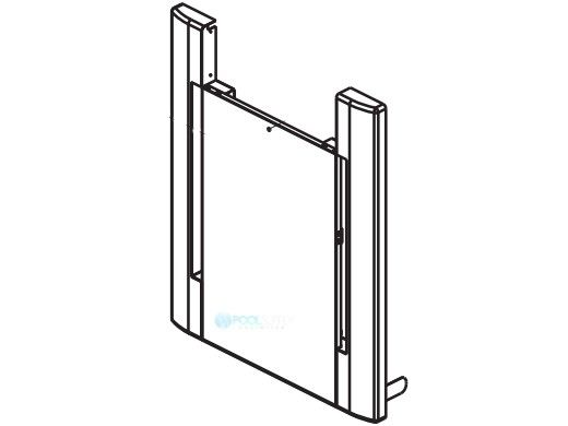 Raypak Door Assembly   Warm Dark Gray   Units Manufactured After 9-12   013859F