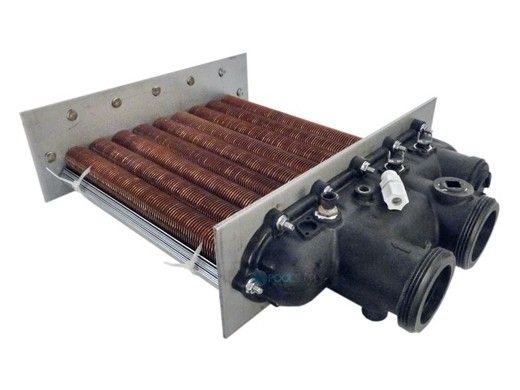 Raypak Cupro Nickel Heat Exchanger with Polymer Heads   From 7-2013   014928F