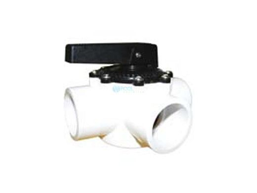 """Waterco FPI Slip Fit Valve 3 Port with Teflon Seal 