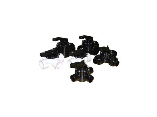 """Waterco FPI Threaded Valve 3 Port with Teflon Seal and Half Unions 