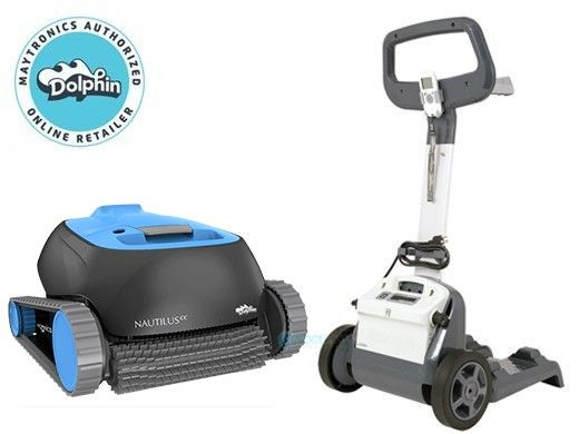 Maytronics Dolphin Nautilus CC Inground Robotic Pool Cleaner with Caddy | 99996113-CADDY