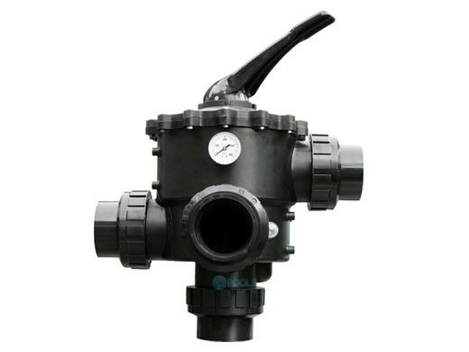 """Waterco Multiport Valve for use with Sand Filters   Valve with Piping Kit   4"""" Side Mount Valve & Bulkhead Connections   2291005"""