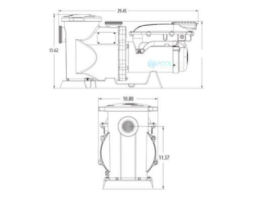 Waterway Power Defender 300SVL Variable Speed Pump 3HP 13.5AMP 230V | PD-VSA300