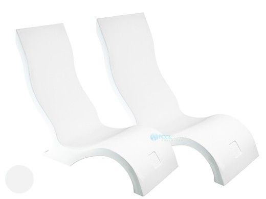 Ledge Lounger Signature Collection Two-Chair Bundle | White | LL-SG-CR-W