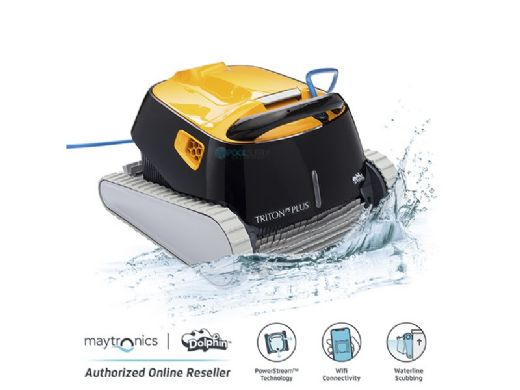 Maytronics Dolphin Triton PS Plus WiFi Connected Robotic Pool Cleaner with Multi-Layer Filtration | 99996212-9983106