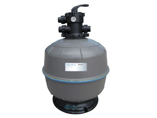 """Waterco Exotuf E450 18"""" Clamp Type Top Mount Sand Filter with Multiport Valve   3 Sq. Ft. 34 GPM   2260186A"""