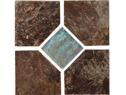 National Pool Tile Coral 6x6 Deco Tile | Brown | CRL-BROWN DECO GL
