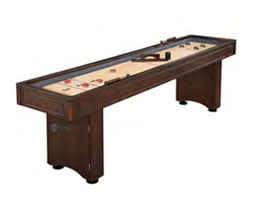 Hathaway Austin 9-Foot Shuffleboard Table with Bowling Pin Set | BG1209BP