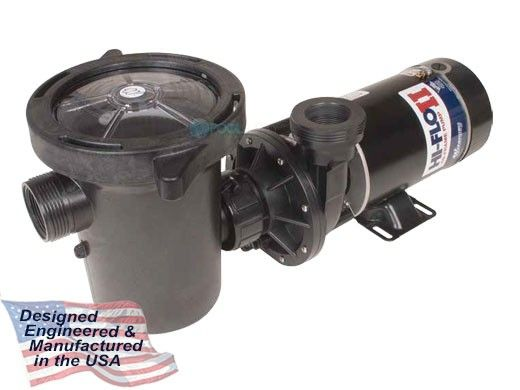 Waterway Hi-Flo II Side Discharge 48-Frame 1.5HP Above Ground 2-Speed Pool Pump 115V | 3' NEMA Cord | PH2150-6