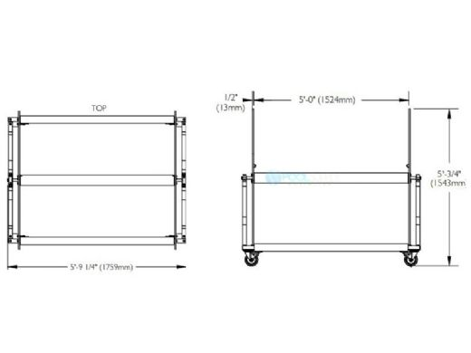 S.R.Smith XL Capacity Lane Line Storage Reel | Silver Gray | 38000