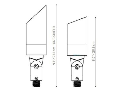 FX Luminaire MU LED Up Light | Sedona Brown | MU-LED20WFL-SB