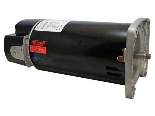 Replacement Square Flange Pool & Spa Motor | .33HP Full-Rated/.5HP Up-Rated | 48 Frame Standard Efficiency | 115/230V | EUSQ1052 | USQ1052 | HSQ065 | ASQ065