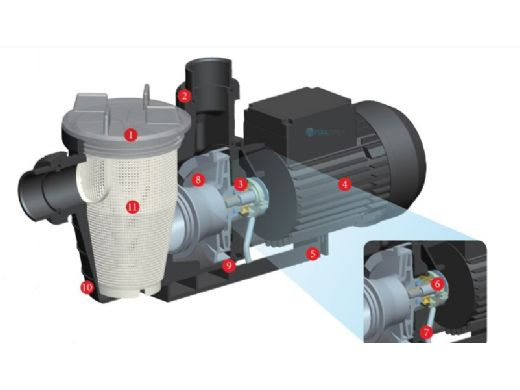 Waterco Supastream .75HP Above Ground Pool Pump | 115/230V | 2403075A