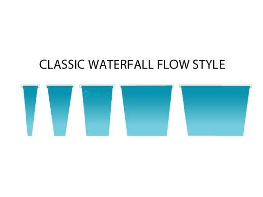 "Natural Wonders Classic 36"" Waterfall with | 1"" Lip Bottom Port | White | 25576-320-000"