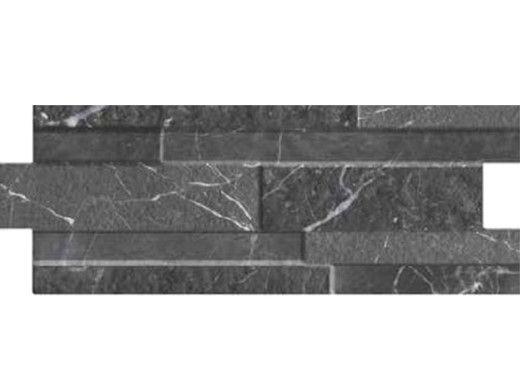 National Pool Tile Carrara 6 1/4x15 3/4 Porcelain Tile   Nero Black   CRA-NERO