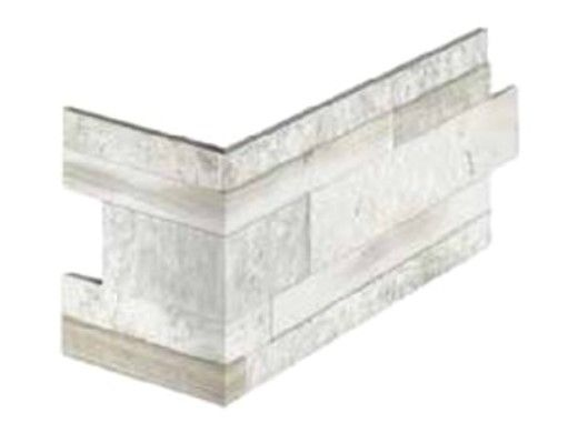 National Pool Tile Rockwood Porcelain Tile Corner   Classic White   RKW-WHITE CNR