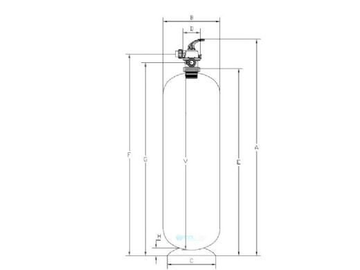 """Waterco W300n 14"""" Micron Deep Bed Sand Filter Only 102 PSI 