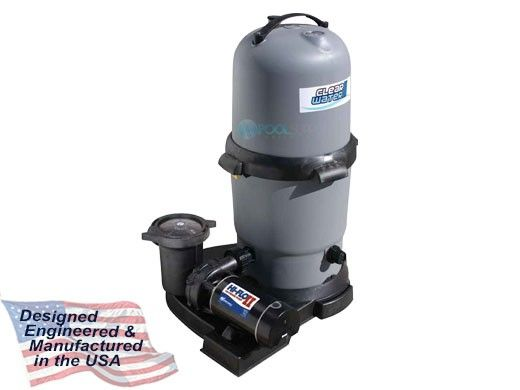 Waterway ClearWater II Above Ground Pool Standard Cartridge Filter System   1.5HP Pump 100 Sq. Ft. Filter   3' NEMA Cord   520-5147-6S