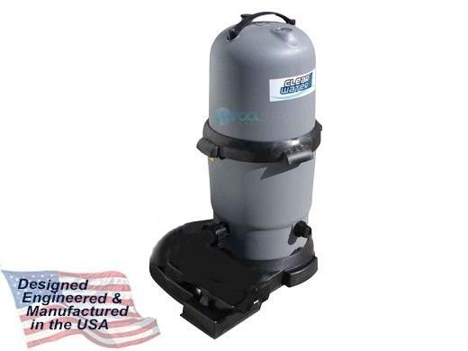 Waterway ClearWater II Above Ground Pool Deluxe Cartridge Filter System without Pump | 100 Sq. Ft. Filter | FCS1007S