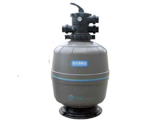 """Waterco Exotuf Plus E602 24"""" Top Mount Deep Bed Sinking Bead Sand Filter with Multiport Valve 