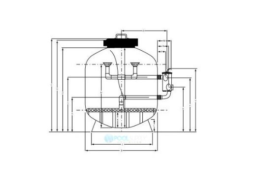"""Waterco Micron SM-Series SM500 20"""" Side Mount Sinking Bead Sand Filter 