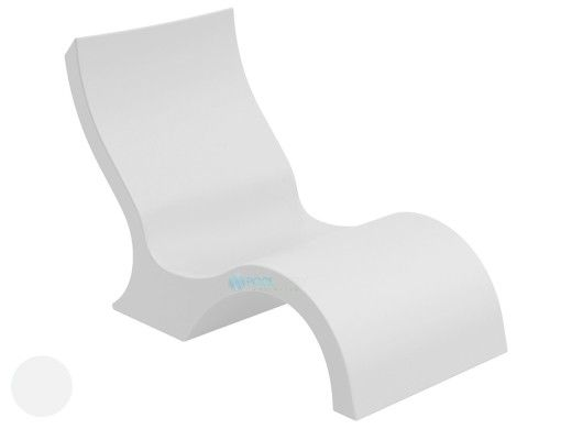 Ledge Lounger Signature Collection Lowback Chair   White   LL-SG-LBCR-W
