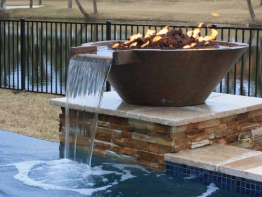 """Bobe Artisian Series Round Water + Fire Bowl Original Lip 
