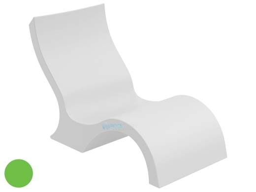 Ledge Lounger Signature Collection Lowback Chair   Lime Green   LL-SG-LBCR-LG