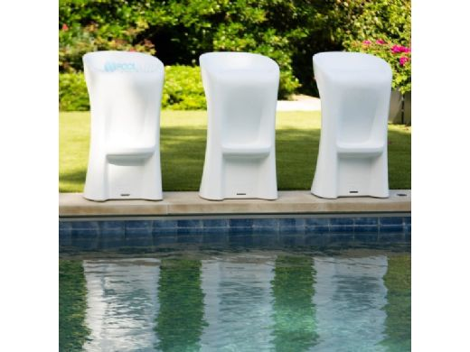 """Ledge Lounger Signature Collection Barstool   Bar Height - Seat Height 29.5""""   White   LL-SG-BS42-W"""