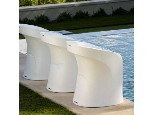 """Ledge Lounger Signature Collection Barstool   Counter Height - Seat Height 17.5""""   White   LL-SG-BS30-W"""