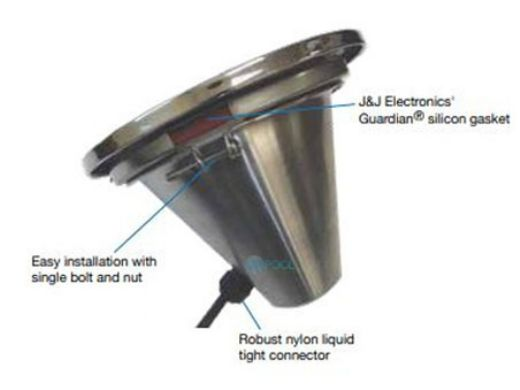 J&J Electronics Incandescent Inground Pool Light Fixture | 400W 120V 100' Cord | TPL-P120-400-100