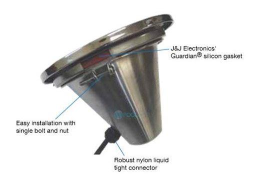 J&J Electronics Incandescent Inground Spa Light Fixture | 100W 12V 150' Cord | TPL-S12-100-150