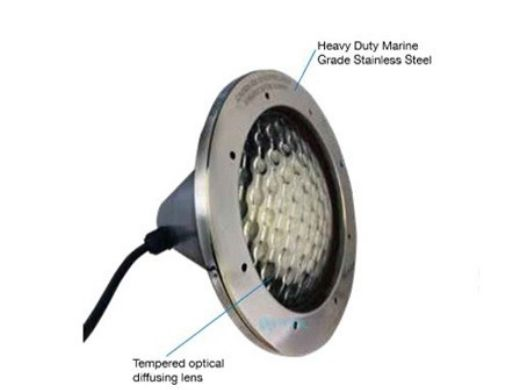 J&J Electronics Incandescent Inground Spa Light Fixture | 100W 120V 50' Cord | TPL-S120-100-50