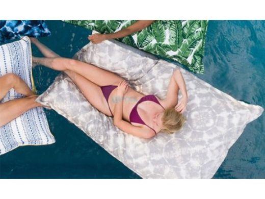 Ledge Lounger Laze Pillow Floating Lounger | Shibori Gray | LL-LZ-P-SHG