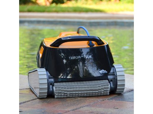 Maytronics Dolphin Triton PS Plus Bluetooth Connected Robotic Pool Cleaner with Caddy | 99996212-USW-CADDY