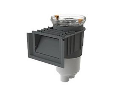 AquaStar Flow Star Standard Skimmer with Water Stop Face, Float Assembly, Basket, Clear Fill Lid and Adjustable Collar | Light Gray | SKR103FL100