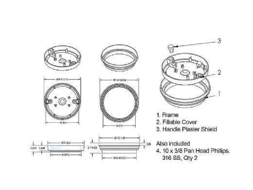 AquaStar Flow Star Standard Skimmer with Water Stop Face, Float Assembly, Basket, Clear Fill Lid and Adjustable Collar | Blue | SKR104FL100
