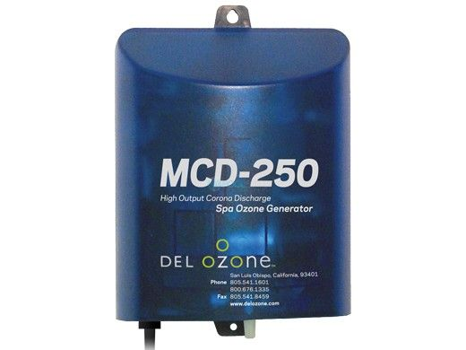DEL OZONE MCD-250 High-Output Ozone System for Spas | 3,000 Gallons | 120V/240V | EURO Wire Color Code and AMP Cord | MCD-250U-01