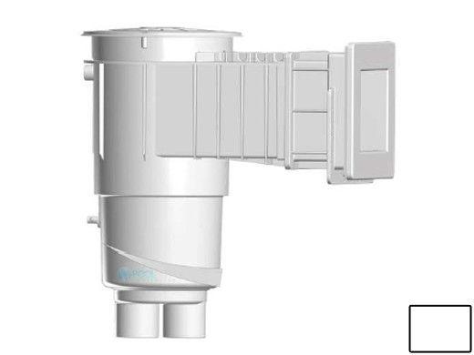 "AquaStar Flow Star Water Bonded Skimmer with Narrow 9"" Deep Throat, Float Assembly, Basket, Lid and Adjustable Collar for Vinyl | White | SKRVFL18101"