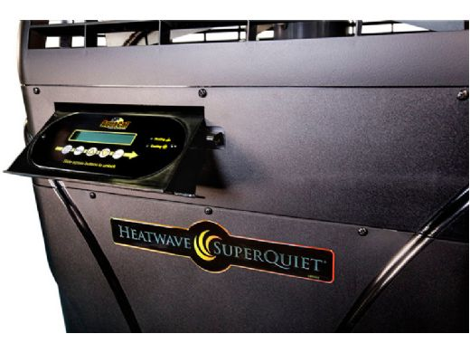 AquaCal HeatWave SuperQuiet SQ150VS Variable Speed Heat Pump   115K BTU Titanium Heat Exchanger   Single Phase 208-230V 60HZ   SQ150VSAHDSBPB