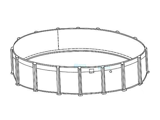 """24' Round Pristine Bay Above Ground Pool Sub-Assembly   52"""" Wall   5-4624-129-52D"""