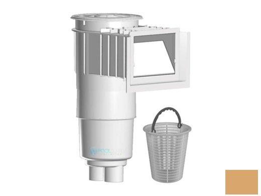 "Aquastar Flow Star Skimmer with 5"" Deep Throat, Float Assembly, Lid, Adjustable Collar and 9"" Ultra Basket for Fiberglass | Tan | SKRFL12108-L"