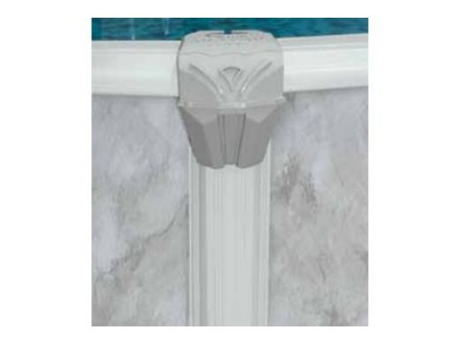 """Pristine Bay 12' Round Above Ground Pool   Basic Package 52"""" Wall   182244"""