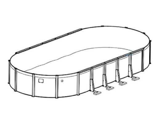 """Pristine Bay 15' x 30' Oval Above Ground Pool 