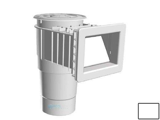 "AquaStar Flow Star Skimmer with Narrow 9"" Deep Throat, Float Assembly, Lid, Adjustable Collar and 6"" Socket Sump for Fiberglass   White   SKRFFL3N101F"